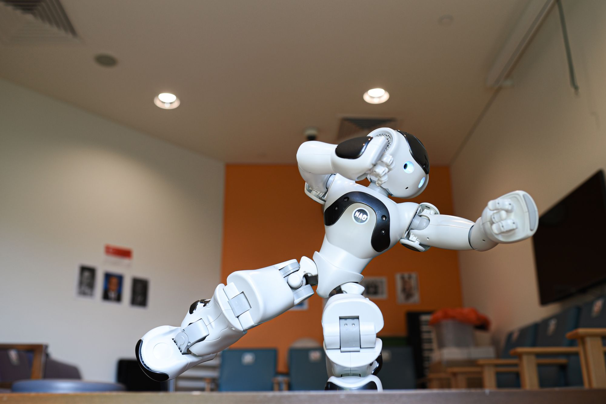 Nao robot used in therapy for seniors at Yishun Community Hospital in Singapore.